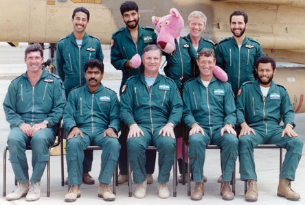 Omani and British Pilots of No. 20 Squadron of the Sultan of Oman's Air Force