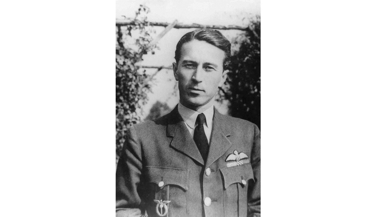 Bust-length portrait of Pilot Officer Tomas Vybiral