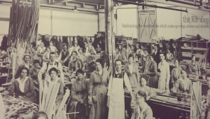 Workers in the Factory's Rib Shop circa 1915