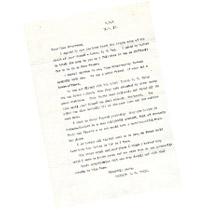 Letter of commiseration
