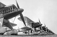 The Heinkel He 51 was one of the first fighter aircraft of the Luftwaffe, having been designed in secret. Its performance was similar to the Hawker Fury which equipped RAF fighter squadrons.
