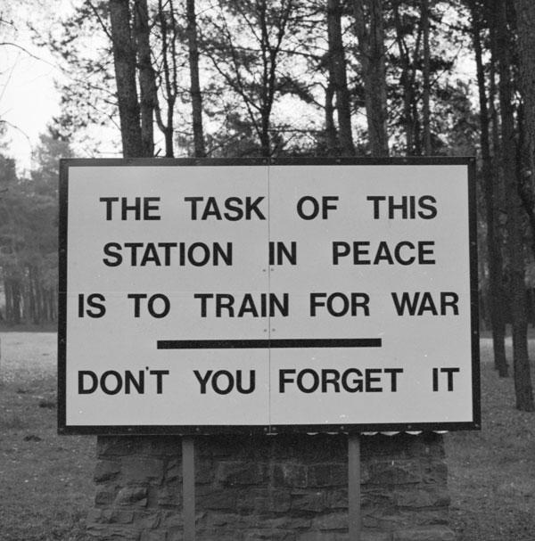 Station sign RAF Bruggen