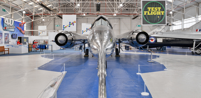 Bristol 188 at the Test Flight Hangar in Cosford