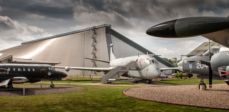 An external shot of the RAF Museum Cosford
