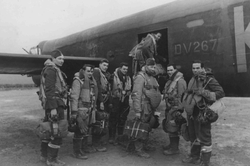 Avro Lancaster BIII with crew about to board