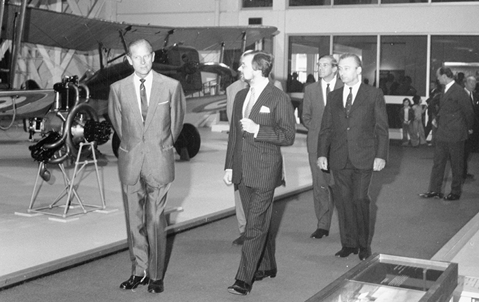 The Duke of Edinburgh visiting London's site in 1972