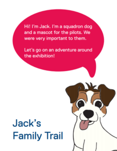 The front cover of Jack's Family Trail featuring a cartoon dog.