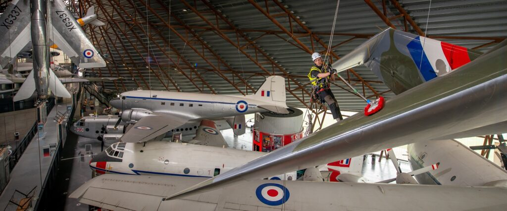 Aircraft Cleaning at RAF Museum Cosford