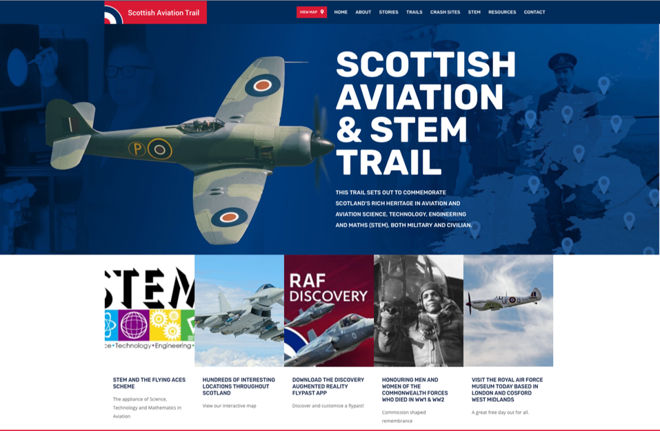 Overview of the Scottish STEM and Aviation Trail Website
