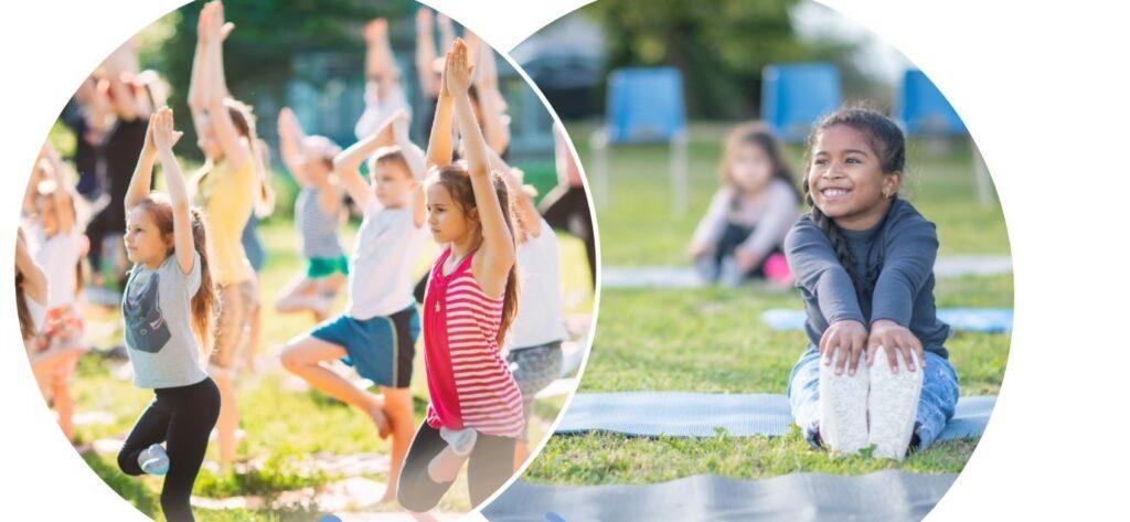 Children taking part in yoga