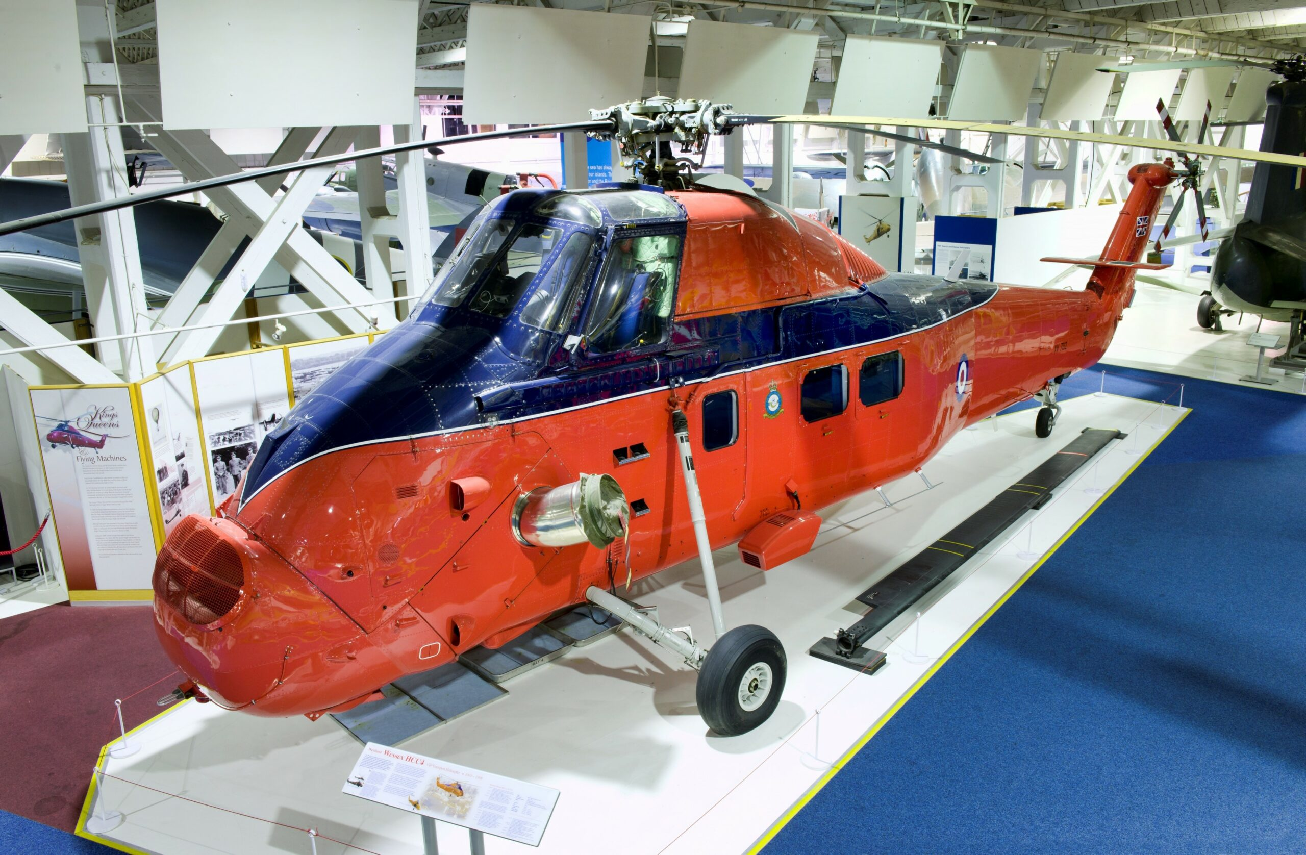 Wessex helicopter in red and blue