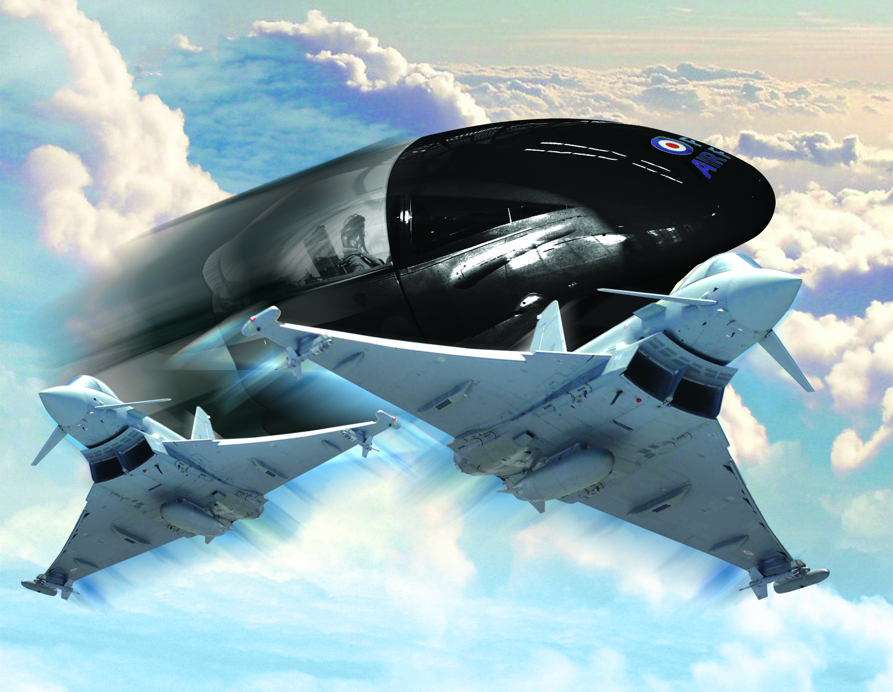 Enjoy a flight with our Typhoon Simulator