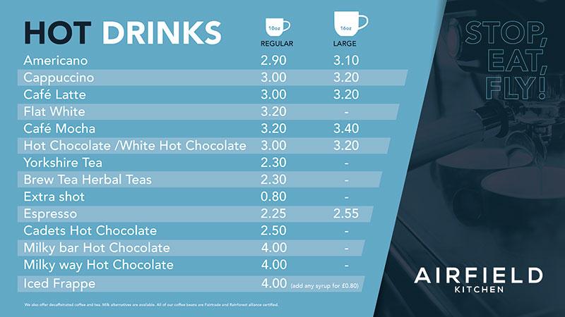 Hot Drinks Offer October 21 onwards