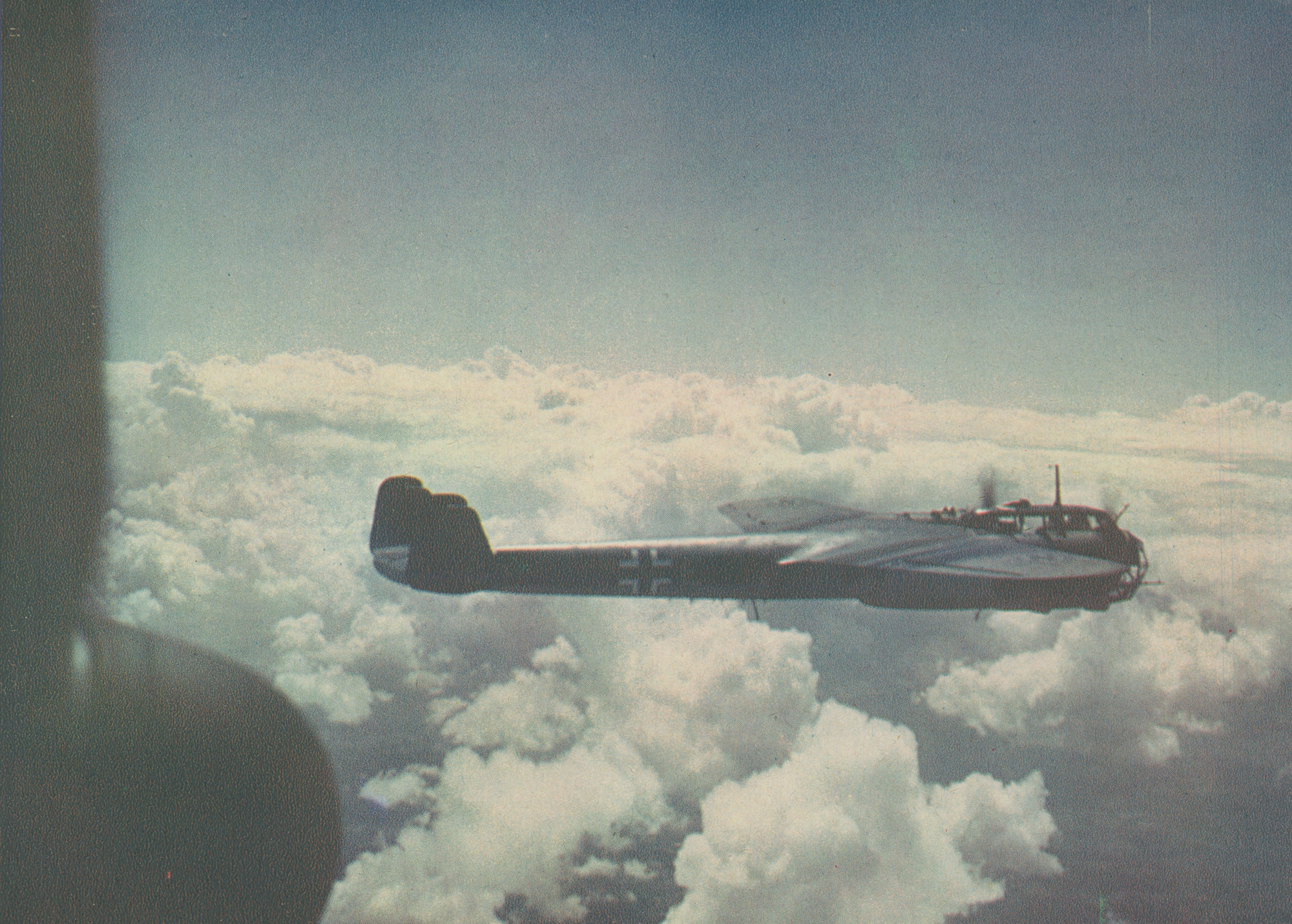 A rare colour photograph of a Dornier Do 17Z in flight (RAF Museum Copyright)