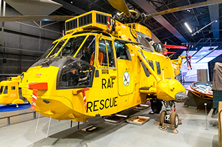 A Sea King Helicopter in Hangar 1