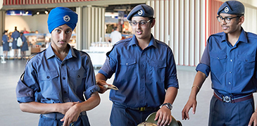 Air Cadets visiting our London site