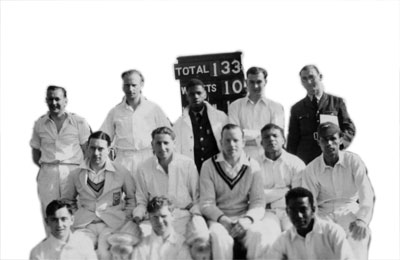 'Beyond a boundary': RAF Colerne Cricket XI, 1946 (PC94/159/33)