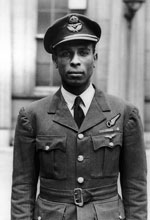 Squadron Leader Ulric Cross from Trinidad, July 1945 (Courtesy of IWM)