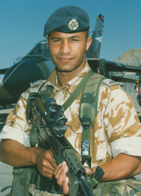 Senior Aircraftman Christie, Ali Al Salem Air Base, Kuwait, 1998 (X002-9533)