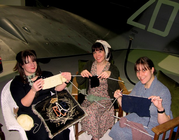 Knitting at the RAF Museum