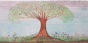Grahame Park Mural : Painted as part of the Arts and Culture Scheme