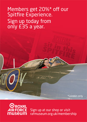 Members get 20% off our Spitfire Experience. Sign up today from only £35 a year.
