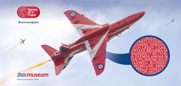 Get your name on a Red Arrows jet
