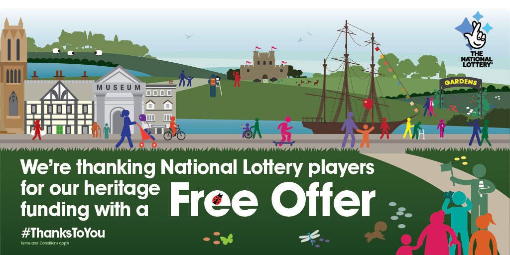 Show us your National Lottery Ticket to receive a 10% discount on any purchase in our shop from 11 - 17 December