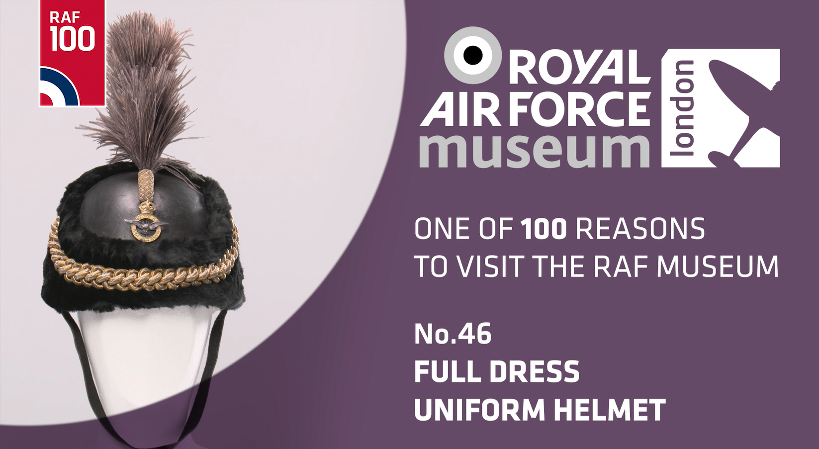 Full Dress Uniform Helmet - one of 100 reasons to visit the RAF Museum