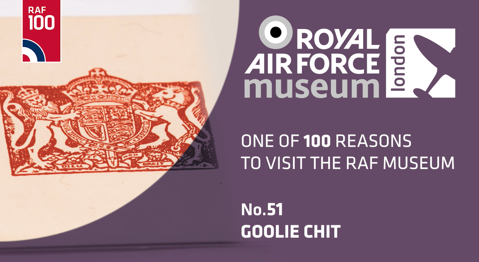 Goolie Chit - one of 100 reasons to visit the RAF Museum