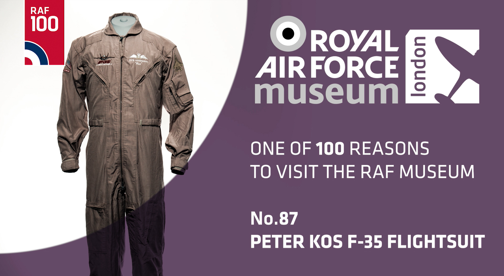 Peter Kosogorin's Uniform - one of 100 reasons to visit the RAF Museum