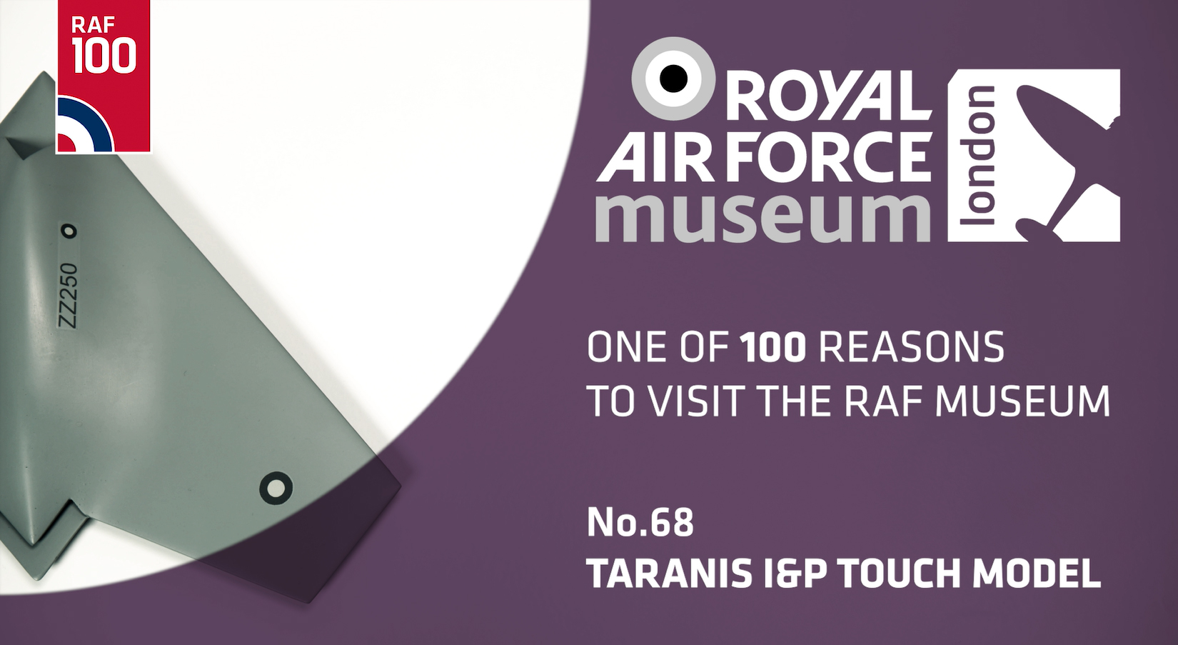 Taranis I&P Touch Model - one of 100 reasons to visit the RAF Museum