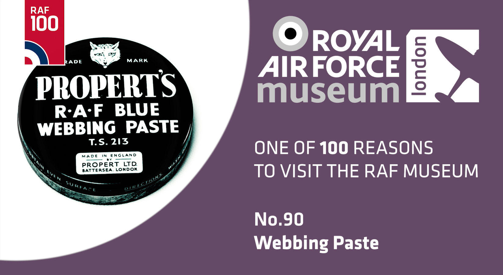 Webbing Paste - one of the 100 reasons to visit the RAF Museum