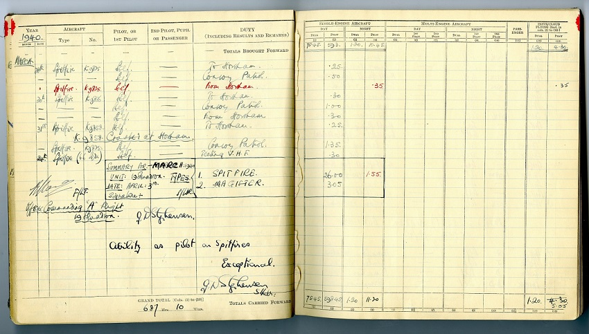 Douglas Bader's Log Book