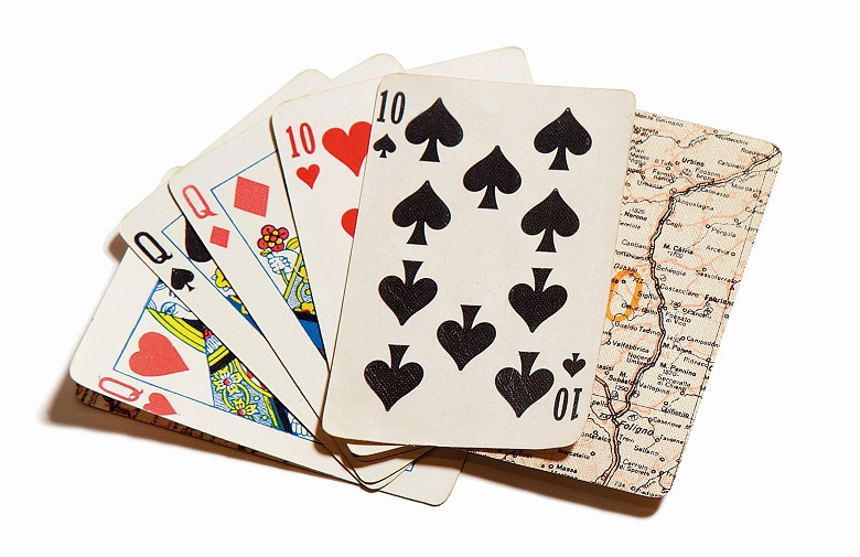 Playing Cards with Hidden Maps