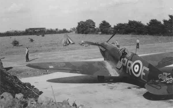 Spitfire I of 609 Squadron at RAF Northolt, Spring 1940. With the kind permission of Mrs H. Scott
