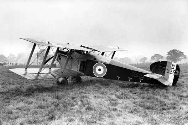 X003-2602/16103: Hooper-built Dolphin, serial D5263, at 8 Aircraft Acceptance Park, RAF, Lympne, January 1919.