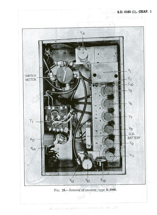 Illustration of the Pye strip installed in Receiver Unit R.3066 of AI Mk.IV  (AP2551A R016459)