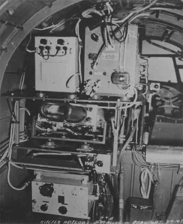 AI Mk.IV, Beaufort training aircraft radar operators station, 9 April 1943 (PC98/131/23)