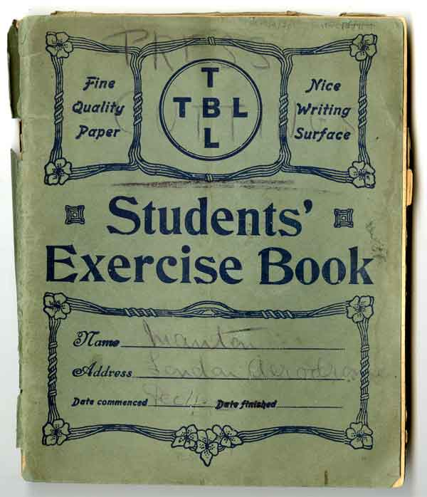 Exercise book: Exercise book containing press cuttings relating to flying at Hendon (AC70/2/3/1)