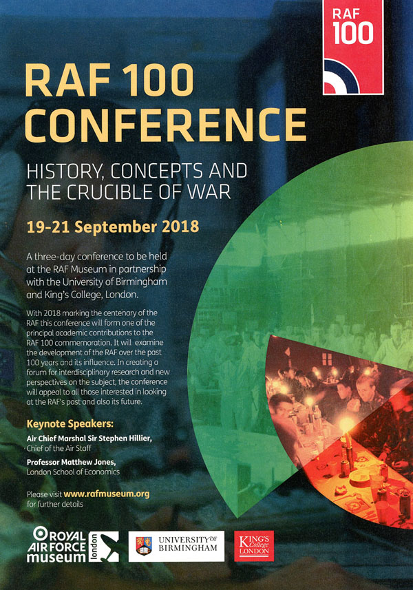 The RAF 100 Conference Poster