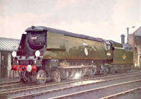 34066 'Spitfire' seen on shed in the early 1960s