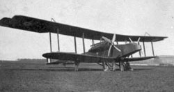 Handley Page 0/400, front view, 1917