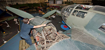 Aircraft condition survey of the Heinkel He 111 HE-20