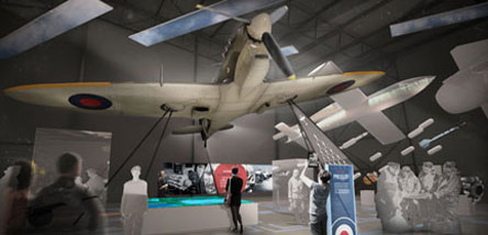An artist's concept of 'The First 100 Years of the RAF' exhibition