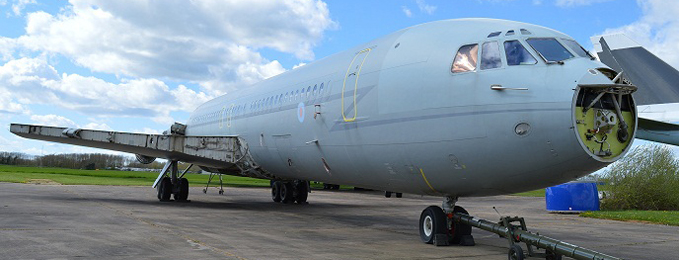 VC10 XR808 Prepares for move to Cosford
