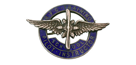 RFC training badge for a Ruffy Baumann  School of Flying instructor