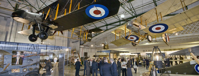 A view of the First World War in the Air exhibition