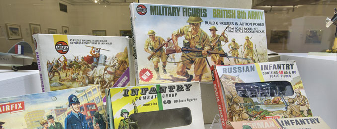 Some of the original Airfix Packages on display