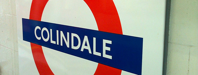 The Colindale Tube Sign